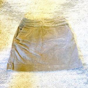 Banana Republic Tan Corduroy Mini Skirt
